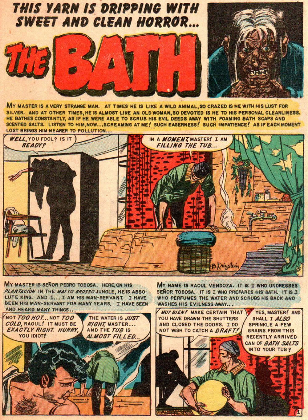 The Bath From Tales From The Crypt 42 The Theatre Of Terror